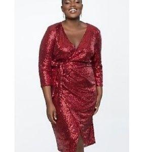 Red sequence Eloquii dress